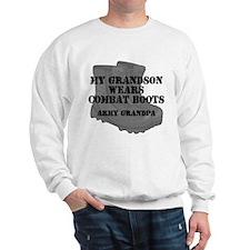 Army Grandpa Grandson Combat Boots Sweatshirt