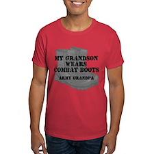 Army Grandpa Grandson Combat Boots T-Shirt