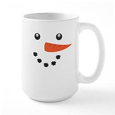 Cute Snowman Face Mugs