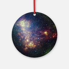 Galaxy Round Ornament