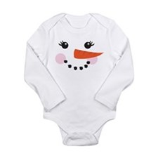 snowman snowgirl face Body Suit