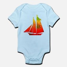 Marijuana Sunrise Ship Infant Bodysuit