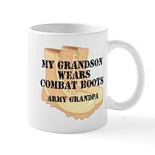 Army Grandpa Grandson Desert Combat Boots Mugs