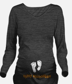 Halloween Feet Long Sleeve Maternity T-Shirt