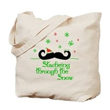 Stacheing Through the Snow Tote Bag
