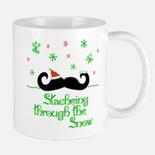 Stacheing Through the Snow Mugs