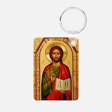 Christ the Teacher Aluminum Photo Keychain