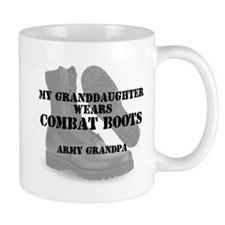 Army Grandpa Granddaughter wears CB Mugs