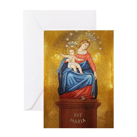 Lady of Pompeii Greeting Card