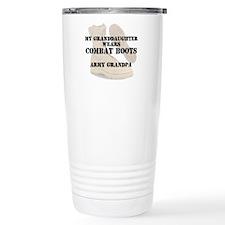 Army Grandpa Granddaughter wears DCB Travel Mug