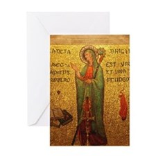 St Brigid of Ireland Greeting Card