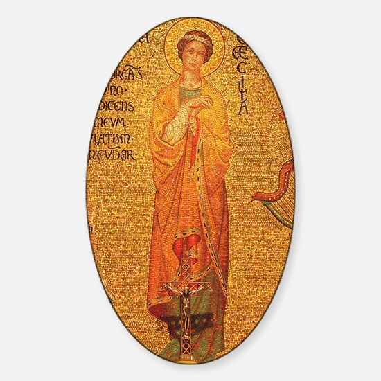 Saint Cecilia Sticker (Oval)