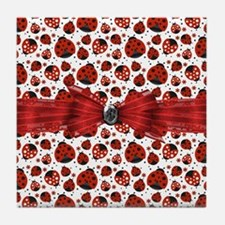Ladybug Obsession Tile Coaster