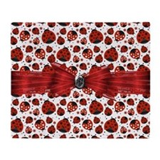 Ladybug Obsession Throw Blanket