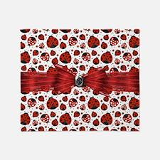 Ladybug Obsession Throw Blanket