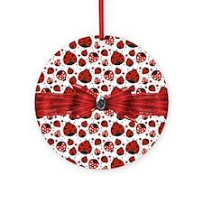 Ladybug Obsession Round Ornament