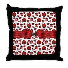 Ladybug Obsession Throw Pillow