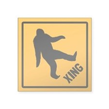 "Bigfoot Crossing Square Sticker 3"" x 3"""
