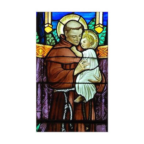 Saint Anthony Sticker (Rectangle)