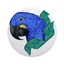 Hyacinth Macaw Round Ornament