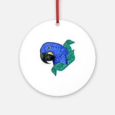 Hyacinth Macaw Round Ornament