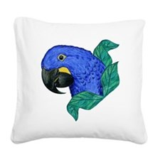 Hyacinth Macaw Square Canvas Pillow
