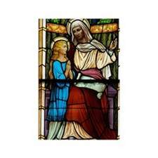 St Anne with Mary Rectangle Magnet