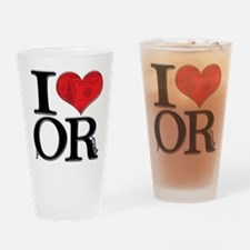I Love fORtune Drinking Glass