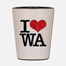 I Love WeAlth Shot Glass