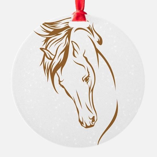 Line Art Horse Head Ornament