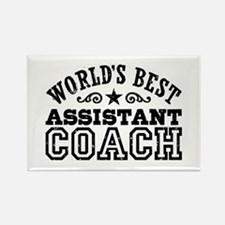 World's Best Assistant Coach Rectangle Magnet