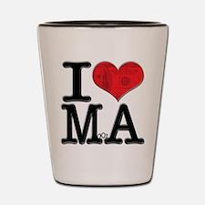 I Love MoolA Shot Glass