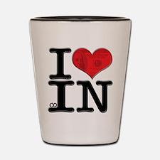 I Love coIN Shot Glass