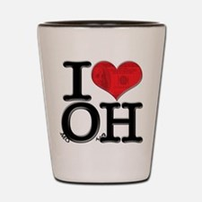 I Love moOlaH Shot Glass
