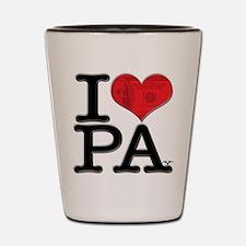 I Love PAy Shot Glass