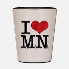 I Love MoNey Shot Glass