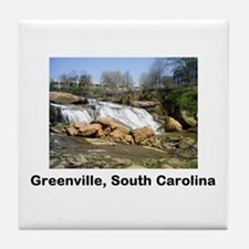 Cute Greenville south carolina Tile Coaster