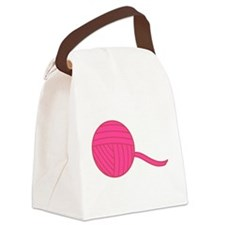 Pink Ball of Yarn Canvas Lunch Bag