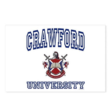 CRAWFORD University Postcards (Package of 8)