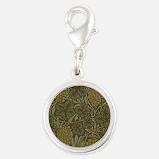 William Morris Vine Silver Round Charm