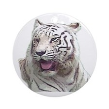white tiger 4 Ornament (Round)