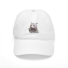 white tiger 4 Baseball Cap