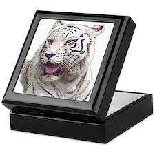 white tiger 4 Keepsake Box