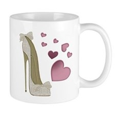 Stiletto and Pink Hearts Mugs