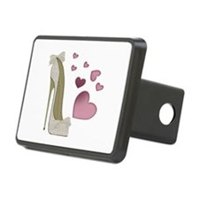 Stiletto And Pink Hearts Hitch Cover