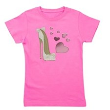 Stiletto and Pink Hearts Girl's Tee