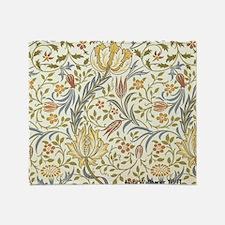 William Morris Floral Throw Blanket