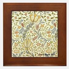 William Morris Floral Framed Tile