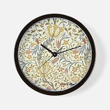 William Morris Floral Wall Clock