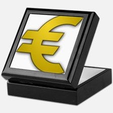 Euro Symbol Keepsake Box